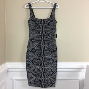 Nicole Miller black & white sleeveless Sexy Dress